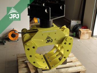 Drapák na kamene JPJ 0,26 a rotáror Baltrotors CPR5 s upínacie doskou
